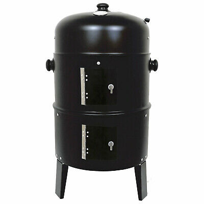Black Bbq Charcoal Grill Barbecue Steel Smoker Garden Outdoor Cooking Summer New