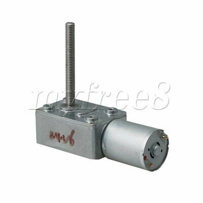 JGY370 DC24V 55RPM Worm Gear Motor with Metal Reducer Gearbox for DIY Project