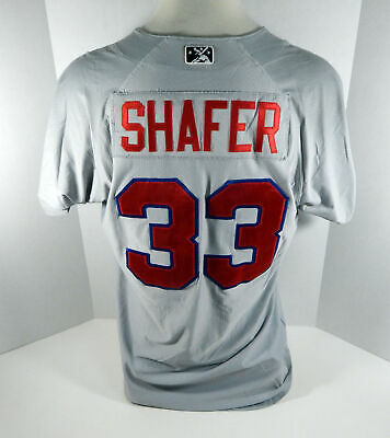 2018 Buffalo Bisons Justin Shafer #33 Game Used Grey Jersey