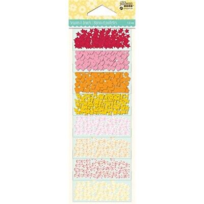 Jillibean Soup Shaker Filler 8/pkg-warm Mix Jewel Sequins