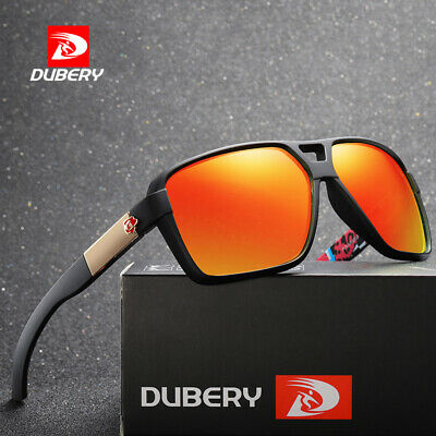 DUBERY 8 Colors With Box Polarized Mens Sunglasses Outdoor Sports Vintage Shades