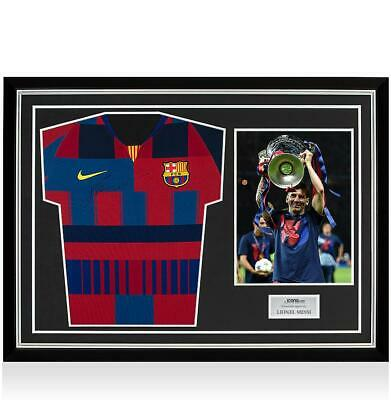 92dabc81c Lionel Messi Official Signed FC Barcelona Home Shirt In Hero Frame  Nike  20-Year