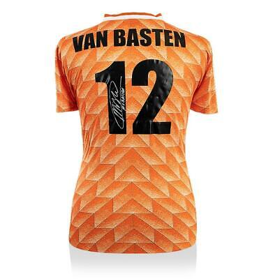 Marco Van Basten Back Signed Retro Holland Home Shirt Autograph Jersey