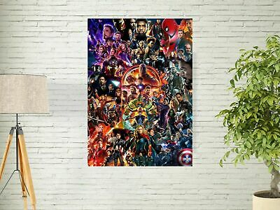 22 Marvel Cinematic Universe COLLAGE Poster Avengers End Game Movie Art Print US