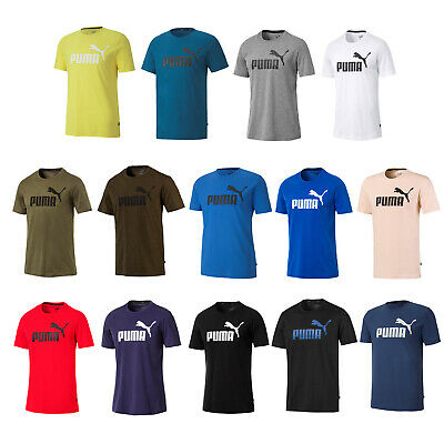 PUMA HERREN T SHIRT Cat Logo Cotton Stretch S M L Xl 2Xl