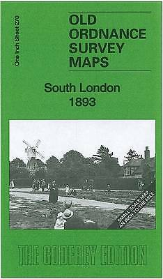 OLD ORDNANCE SURVEY MAP South London 1893: One Inch Sheet 270