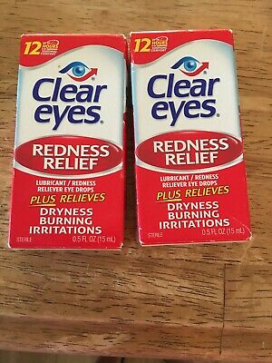 Clear Eyes Redness Relief Eye Drops - 0.2 oz, 4 Boxes. New Exp 12/2019-8/2021