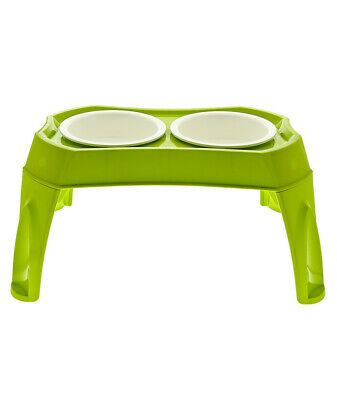 Porte-bols De Table Avec Bols En Plastique Pour Chiens Et Chats Fuss-dog Dishes, Feeders & Fountains Cat Supplies