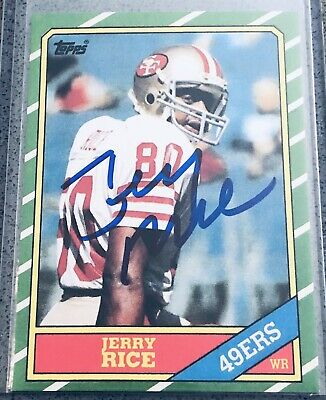 Jerry Rice Signed Auto 8x10 Photo Bas Witnessed L06901 San