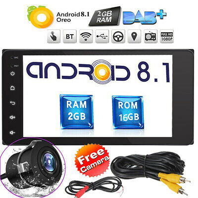 "7"" Android 8.1 Oreo Double 2Din InDash Car GPS Navigation Stereo Radio ForToyota"