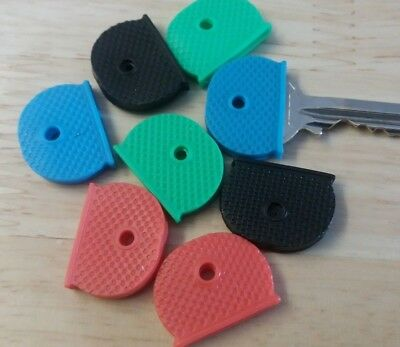Key Caps Coloured Covers Plastic Rubber Top Cap Cover Tag Door Identifier