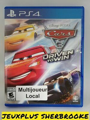 Cars 3: Driven to Win (Sony PlayStation 4, 2017) (COMPLETE IN BOX)