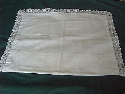 ~ VINTAGE LACE EDGED PILLOW CASE FOR BABY - PRAM / COT / CRADLE 36 x 42 cms  [L]