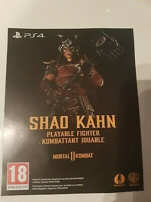 Mortal Kombat 11 Shao Kahn Playable Fighter DLC PS4 Sony Playstation 4 code only