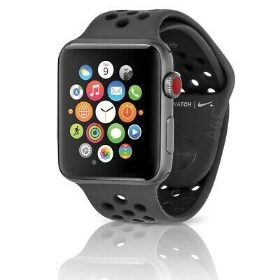 Apple Watch Series 3 (GPS+LTE) 38MM Space Gray Aluminum & Anthracite/Black Band