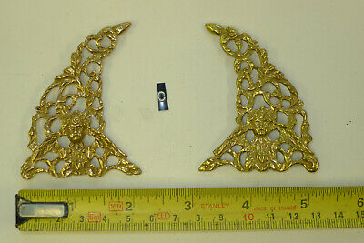 c) PAIR ARCH CLOCK SPANDRELS Cast Yellow Brass Lantern/Bracket/Hooded etc.,