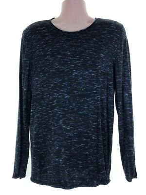 Mens River Island Navy Blue Ribbed Long Sleeve Crew Neck Winter Jumper Xs Xsmall Pullover & Strick
