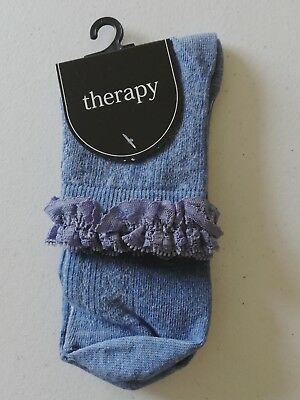GIRLS BLUE SOCKS BY THERAPY at House of Fraser Brand New With Tags