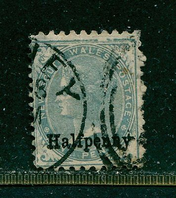 New South Walles 1891 - surch 1/2p om Sc #92 SG #266 Used (2)