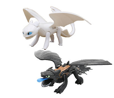 How To Train Your Dragon The Hidden World Movie Toothless Light Fury Figure Toys
