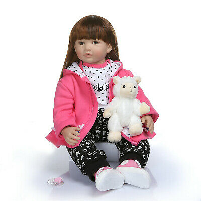 Collection Real Looking Reborn Baby Doll 24inch Lifelike Reborn Toddler Girl