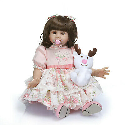 24inch Princess Doll Real Looking Reborn Toddler Girl Dolls with Beautiful Dress