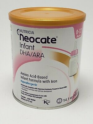 NEW Neocate Infant Formula 14oz Powder with Dha/Ara - Hypoallergenic Exp 5-2020