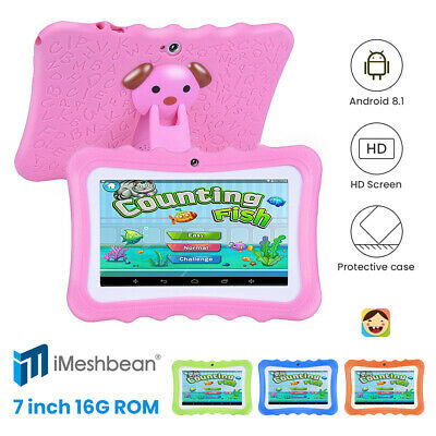 """Kids 7"""" Tablet PC 8GB Android Wifi Quad Core Educational Appst Gift Blue"""