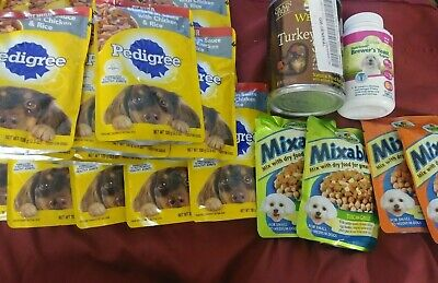 Expired Lot Of 24 Assorted Dog Puppy Food Pedigree Excel Wellness Variety Pets