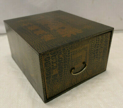 Vintage Wooden and Card Japanese Medicine Box Drawers Circ1950s #923