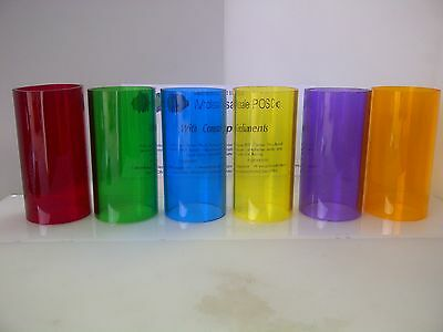 Plastic Perspex Acrylic Tube Transparent Colour Red Green Blue Yellow Purple Amb