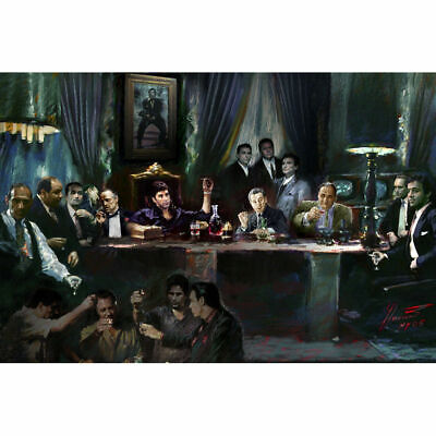 Scarface Last Supper of Gangs Movie Art Silk Poster 12x18 24x36