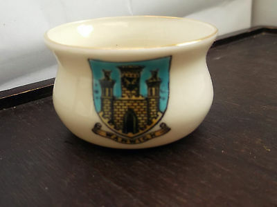 Vintage Goss Model Of An Ancient Cooking Pot [ Bowl] Crested Warwick