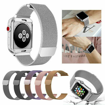 Magnetic  Stainless Wrist Band Strap Loop For Apple Watch Series 3 2 1 Milanese