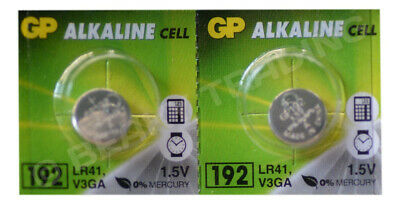 GENUINE GP Batteries 192 LR41 AG3 L736 L736F Alkaline Battery [2-Pack]