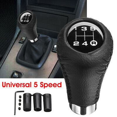 Universal 5 Speed Car Shift Knob Manual Gear Stick Shifter Lever PU Leather US
