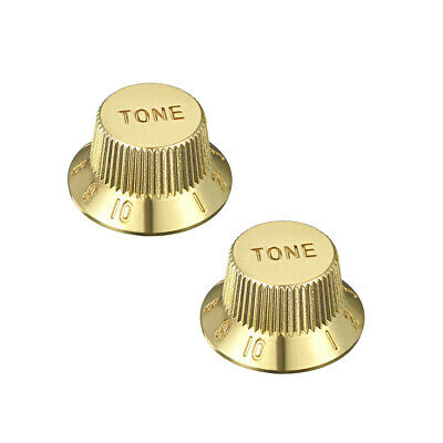 Gold Tone 6mm Potentiometer Knobs Electric Guitar Acrylic Volume Tone Knobs 2pcs