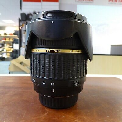 Used Tamron SP AF 17-50mm f2.8 XR lens in Pentax fit - 1 YEAR GTEE