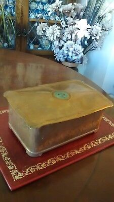 Hammered Copper Arts and Crafts Trinket Box