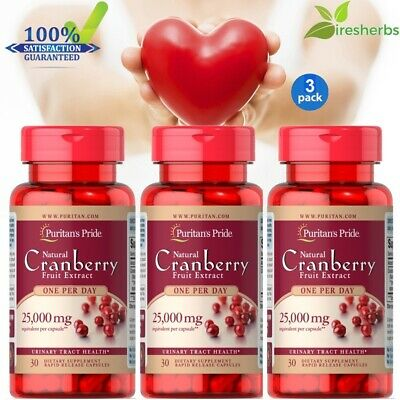 CRANBERRY EXTRACT 25000mg ANTIOXIDANT URINARY TRACT HEART HEALTH SUPPLEMENT 90ct