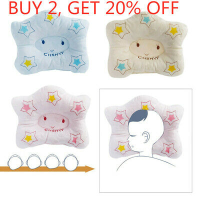 Baby Infant Pillow Newborn Anti Flat Head Syndrome for Crib Cot Bed Neck Pretty