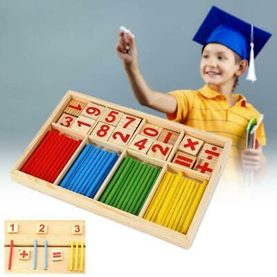 Wooden Math Counting Blocks Sticks Educational Learning Abacus Kids Toy For Gift
