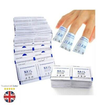 10 - 200 Pcs Remover Wraps For Gel Polish Acetone Pad Foil Nail Art Cleaner