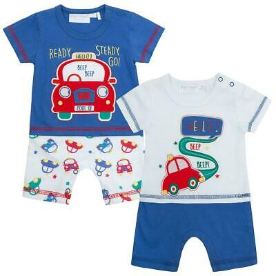Baby Boy Romper Cars Cotton Play Suit NB 1M 0-3 6-9 9-12 Months BNWT
