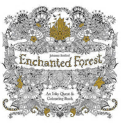 Enchanted Forest: An Inky Quest & Colouring Book, Very Good Books