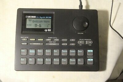 Roland Boss Dr. Synth DS-330 MIDI Synthesizer Sound Drum Module
