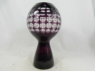 Beautiful 70´s Fritz Wondrejz bubble design glass vase  Harzkristall Derenburg