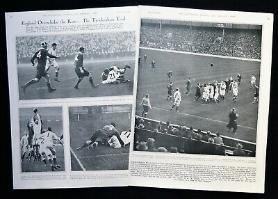 ENGLAND v THE REST RUGBY UNION TRIAL MATCH TWICKENHAM 2pp PHOTO ARTICLE 1933
