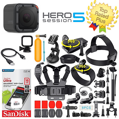 GoPro HERO5 Session Waterproof Camera + 40+ PCS Sports Accessories Bundle
