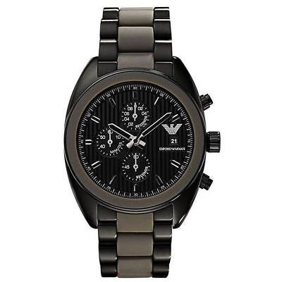 New Low Price!! Armani Ar5953 Black Sports Chronograph Bnwt & Certificate Boxed